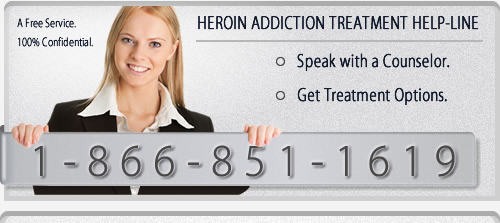 Heroin Addiction Treatment Help-Line: 1-866-851-1619